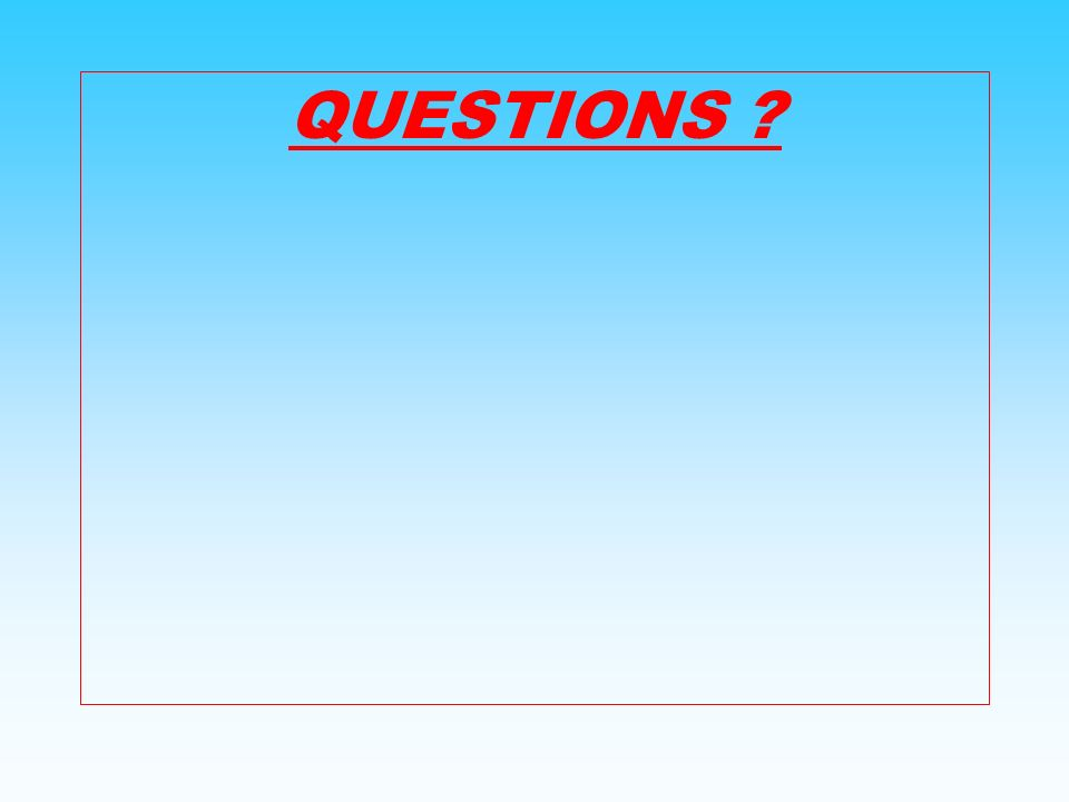 QUESTIONS