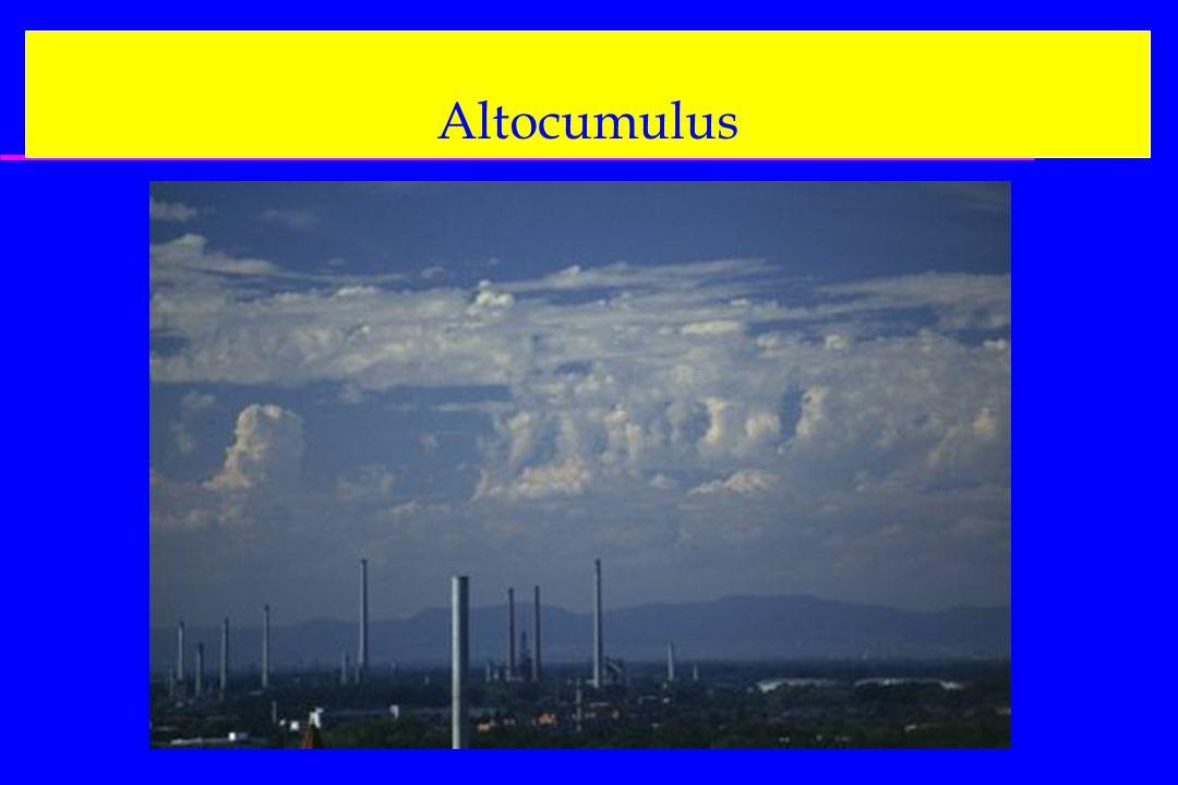 Altocumulus On aura aussi les cartes : 500 hPa, FL180 400 hPa, FL240