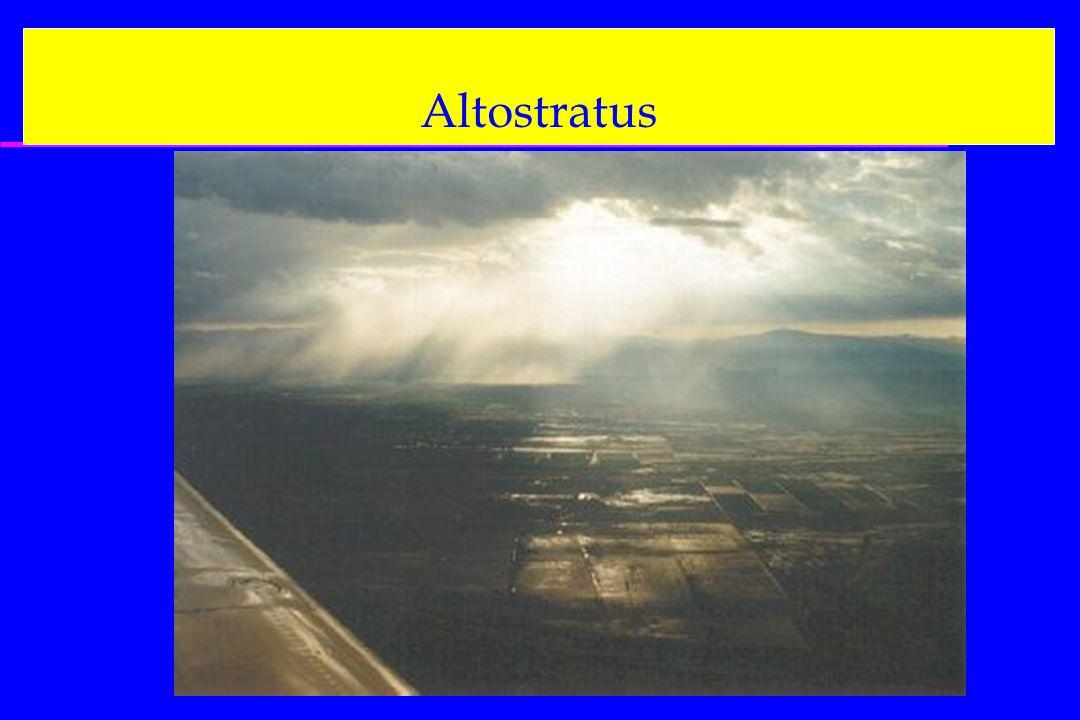 Altostratus On aura aussi les cartes : 500 hPa, FL180 400 hPa, FL240