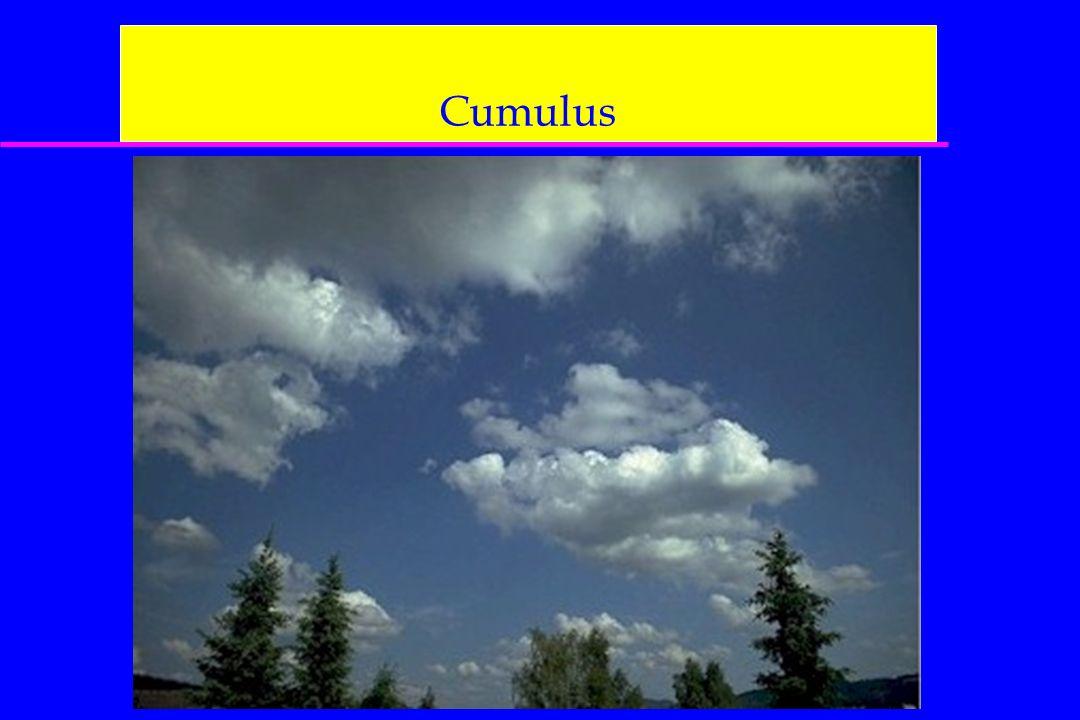 Cumulus On aura aussi les cartes : 500 hPa, FL180 400 hPa, FL240