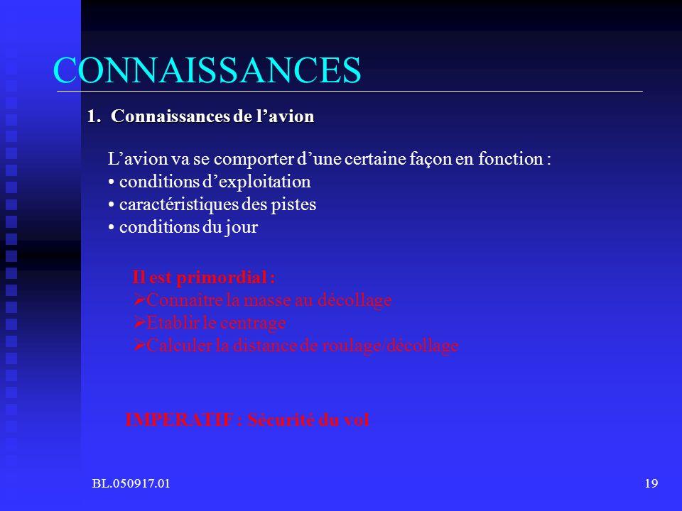 CONNAISSANCES 1. Connaissances de l'avion