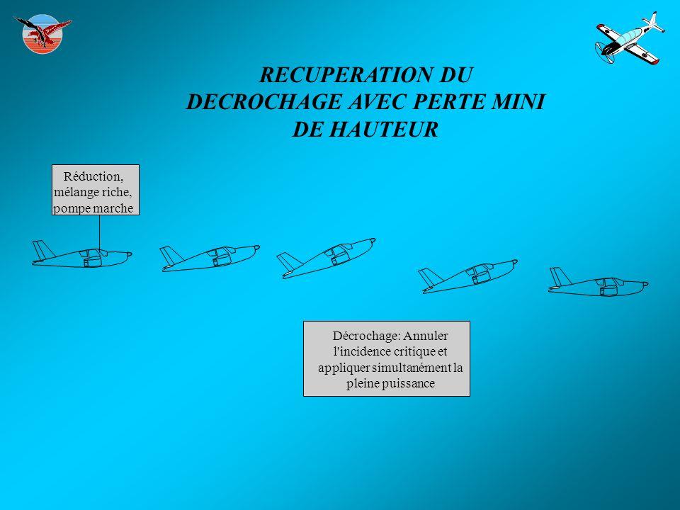 RECUPERATION DU DECROCHAGE AVEC PERTE MINI DE HAUTEUR