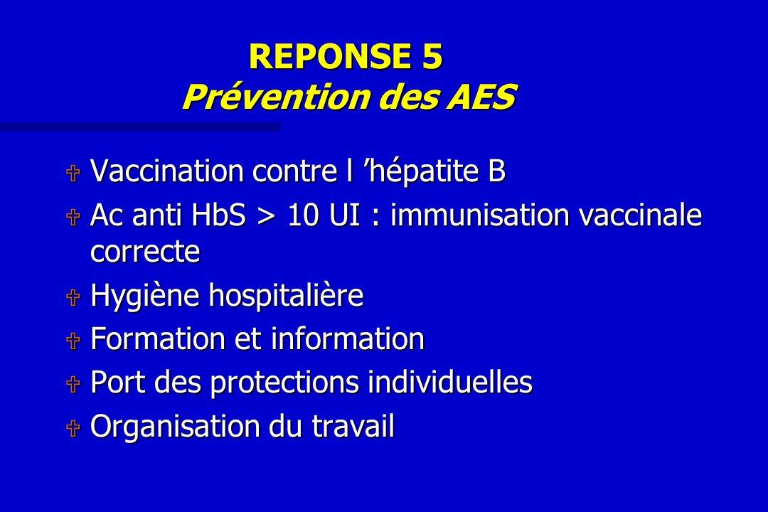 REPONSE 5 Prévention des AES