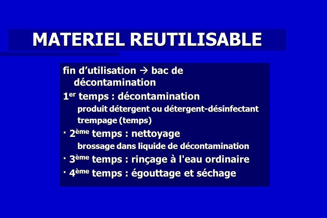 MATERIEL REUTILISABLE