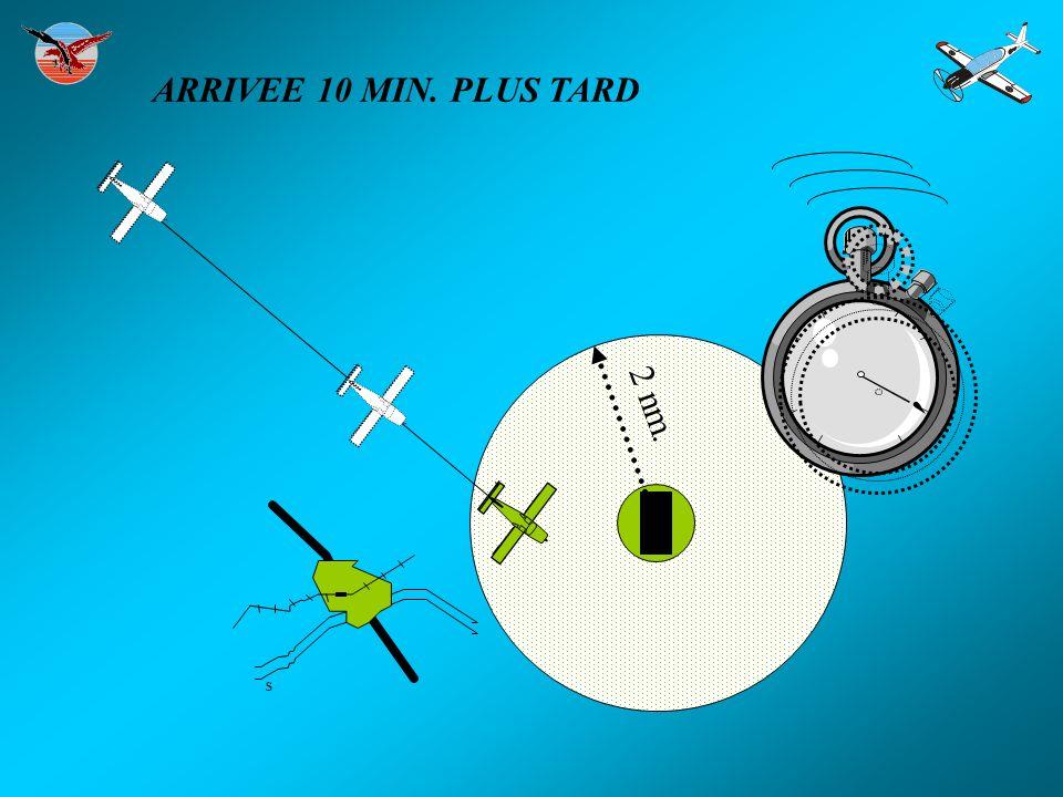 ARRIVEE 10 MIN. PLUS TARD 2 nm. S