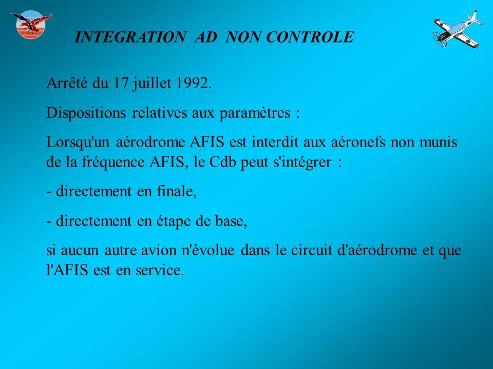 INTEGRATION AD NON CONTROLE