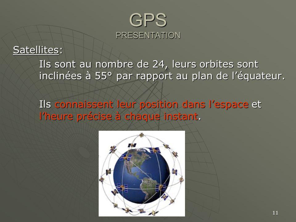 GPS PRESENTATION Satellites: