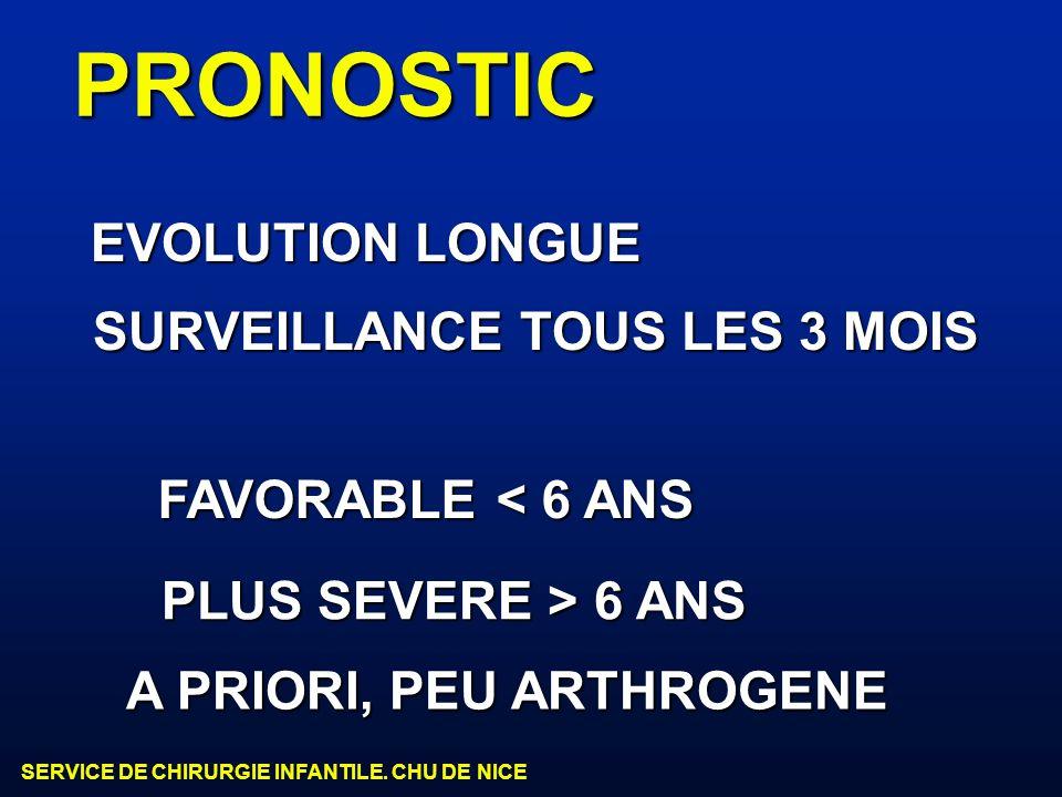 PRONOSTIC EVOLUTION LONGUE SURVEILLANCE TOUS LES 3 MOIS