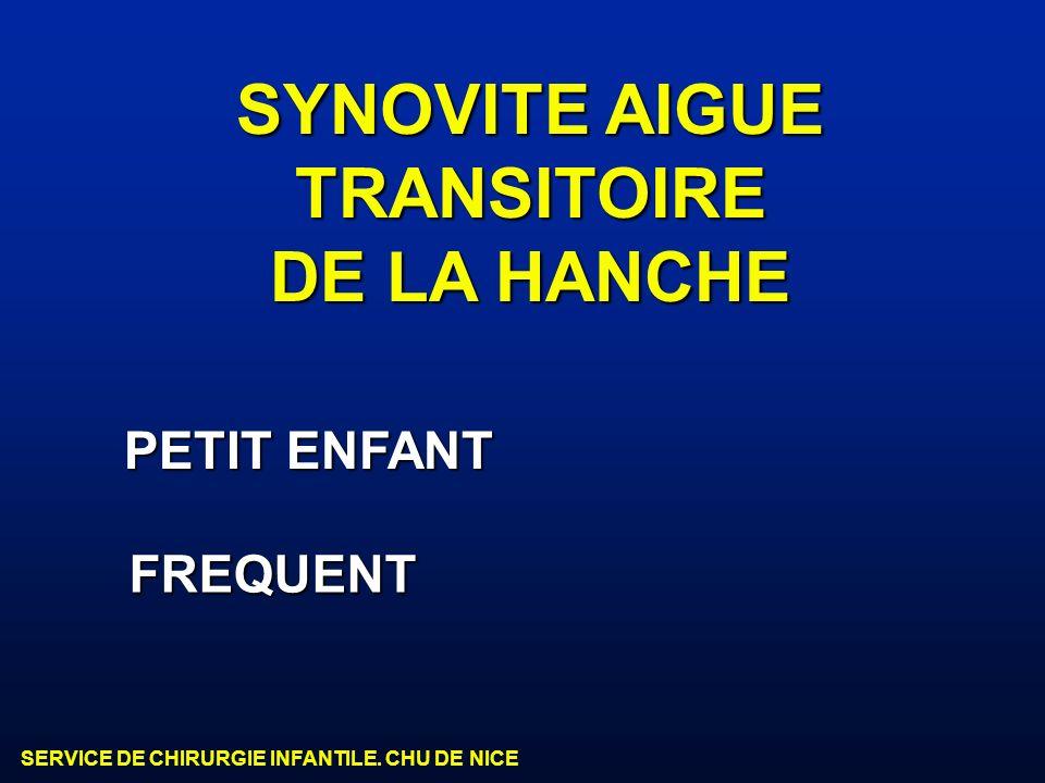 SYNOVITE AIGUE TRANSITOIRE DE LA HANCHE