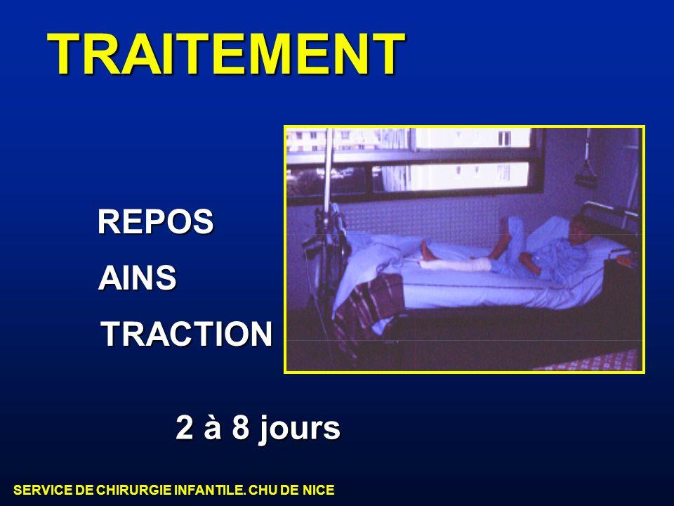 TRAITEMENT REPOS AINS TRACTION 2 à 8 jours