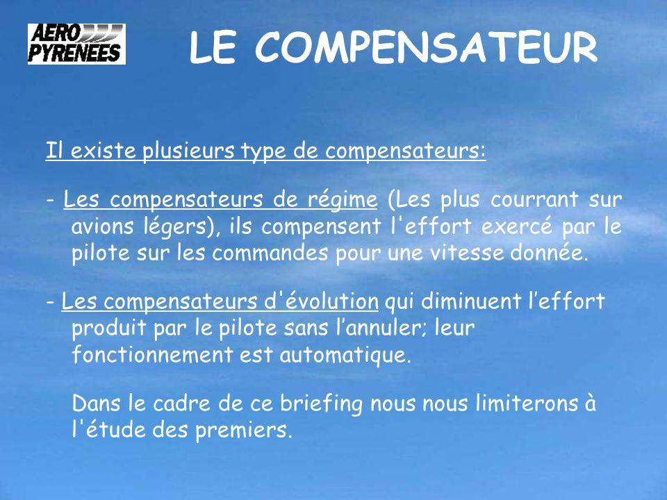 LE COMPENSATEUR Il existe plusieurs type de compensateurs:
