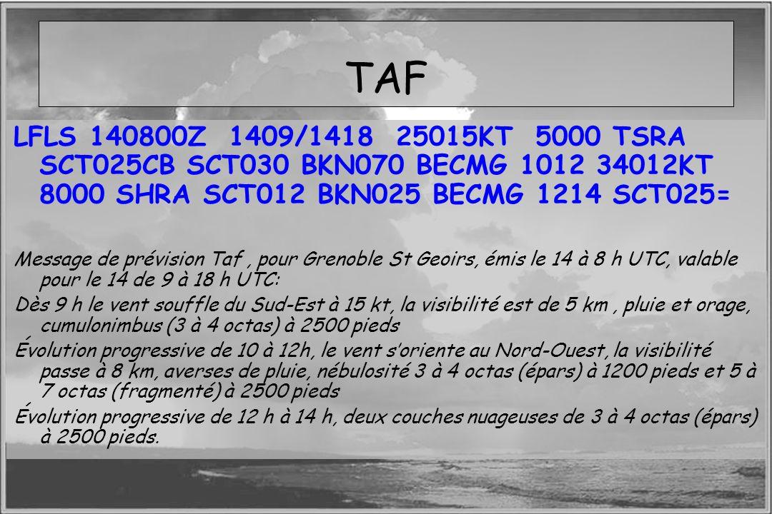 TAF LFLS 140800Z 1409/1418 25015KT 5000 TSRA SCT025CB SCT030 BKN070 BECMG 1012 34012KT 8000 SHRA SCT012 BKN025 BECMG 1214 SCT025=