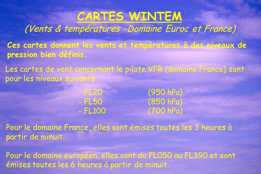 (Vents & températures -Domaine Euroc et France)