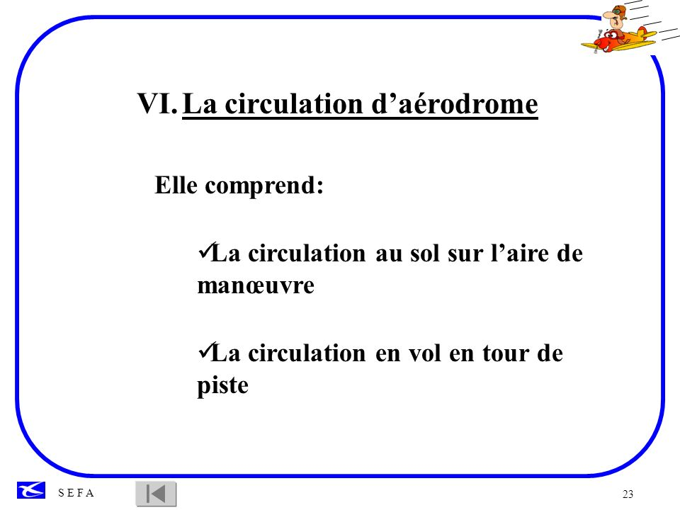 La circulation d'aérodrome