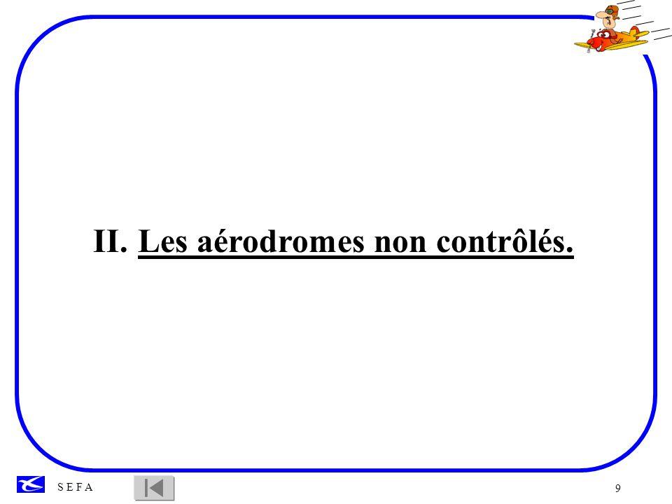 Les aérodromes non contrôlés.