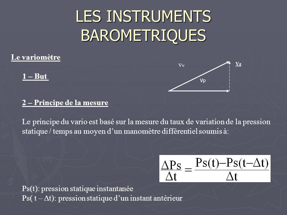 LES INSTRUMENTS BAROMETRIQUES