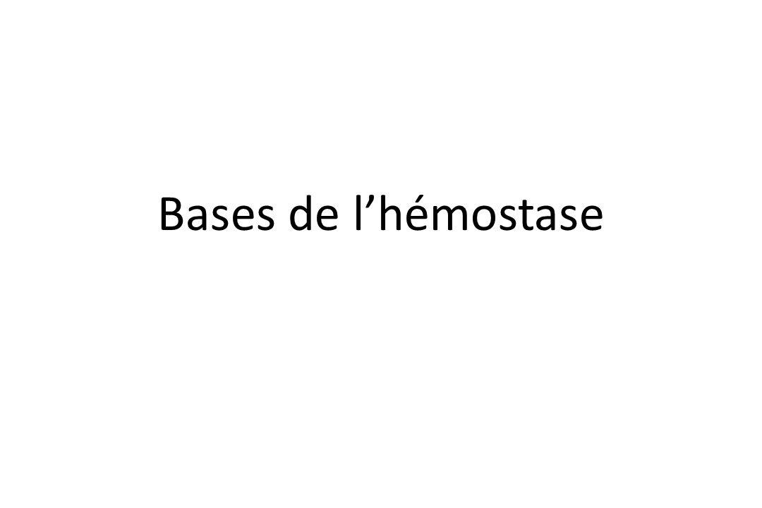 Bases de l'hémostase