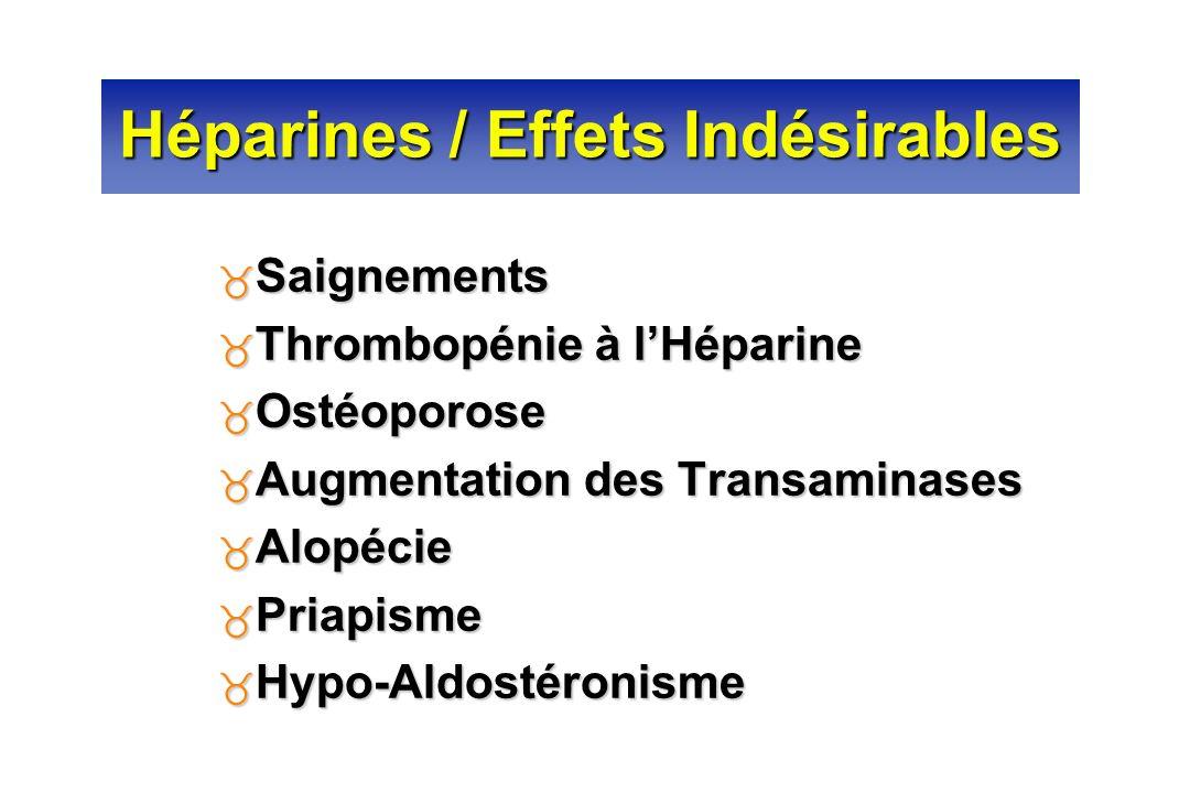 Héparines / Effets Indésirables