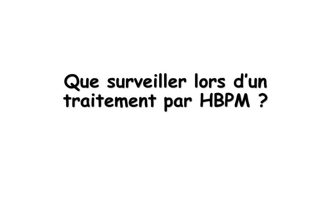 Que surveiller lors d'un traitement par HBPM