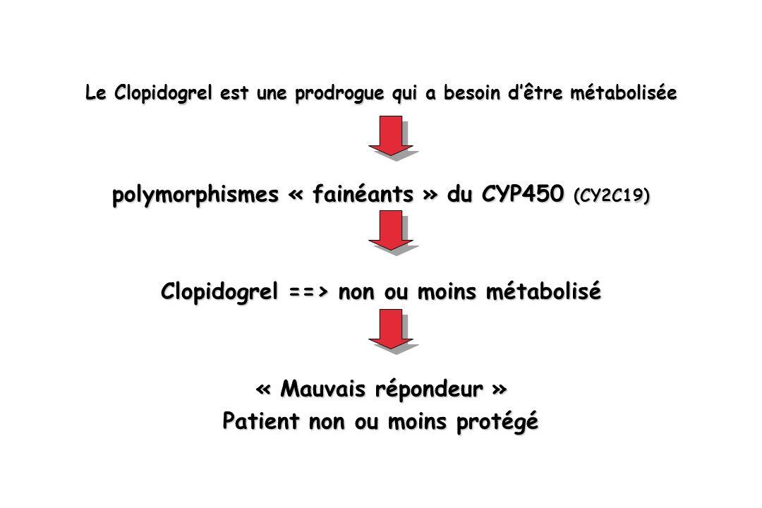 polymorphismes « fainéants » du CYP450 (CY2C19)