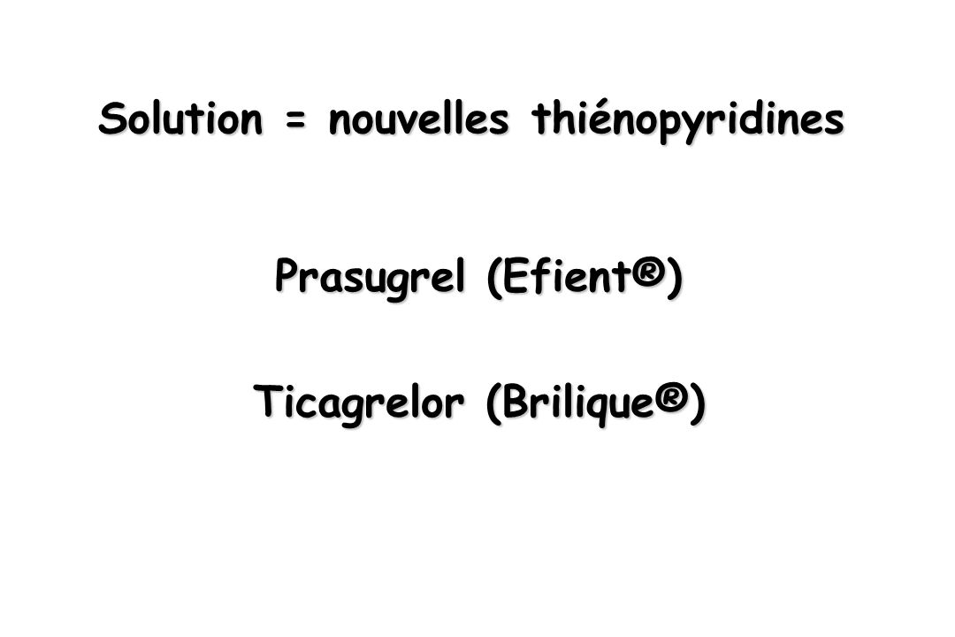 Solution = nouvelles thiénopyridines