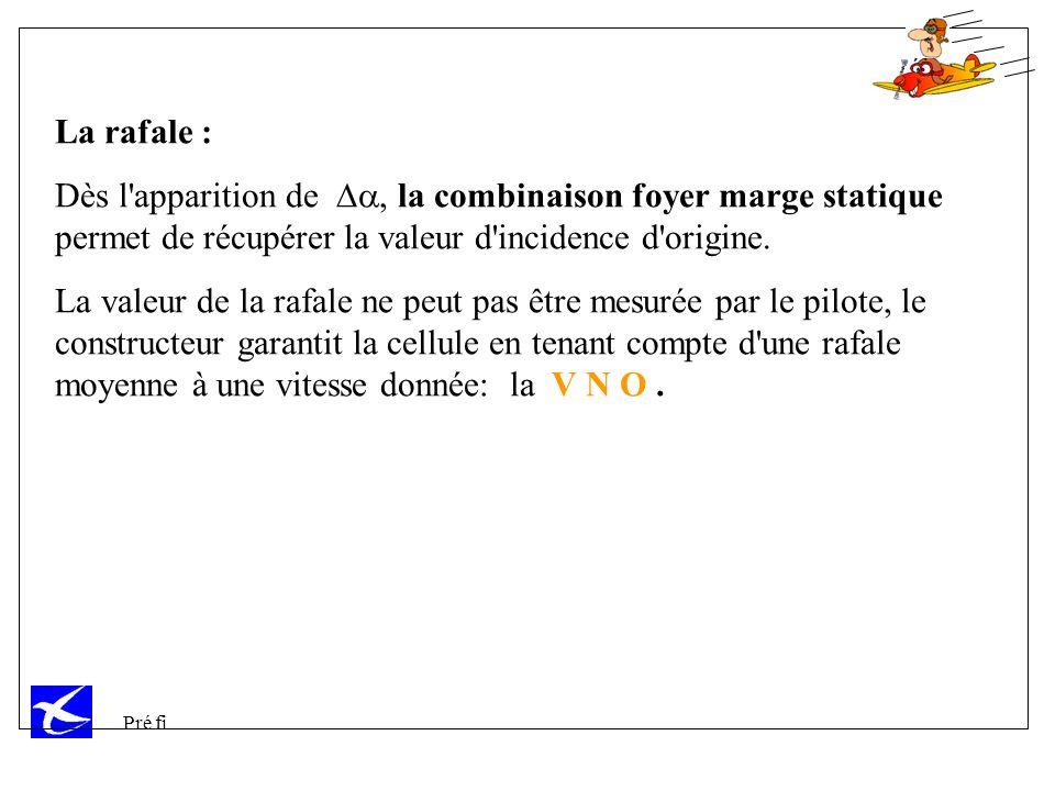 La rafale : Dès l apparition de Da, la combinaison foyer marge statique permet de récupérer la valeur d incidence d origine.