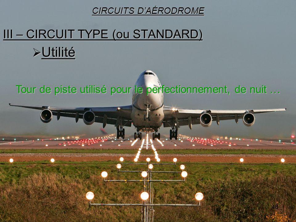 III – CIRCUIT TYPE (ou STANDARD)