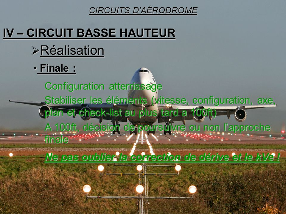 IV – CIRCUIT BASSE HAUTEUR