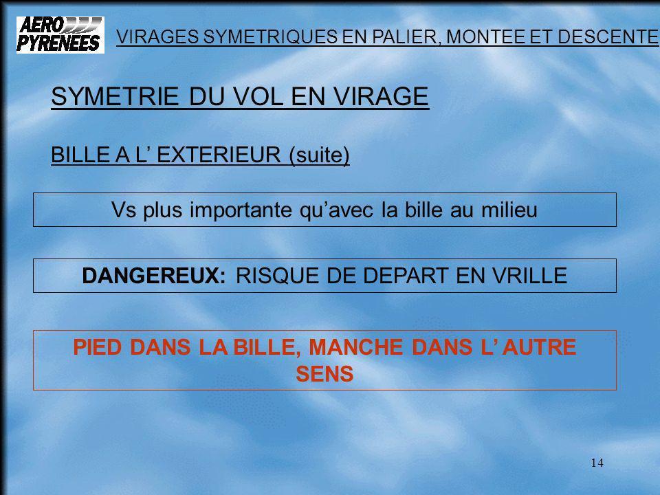 PIED DANS LA BILLE, MANCHE DANS L' AUTRE SENS