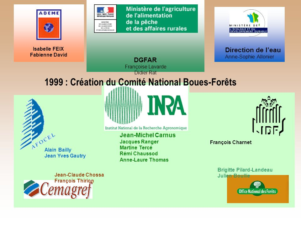 1999 : Création du Comité National Boues-Forêts