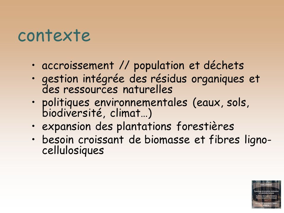 contexte accroissement // population et déchets