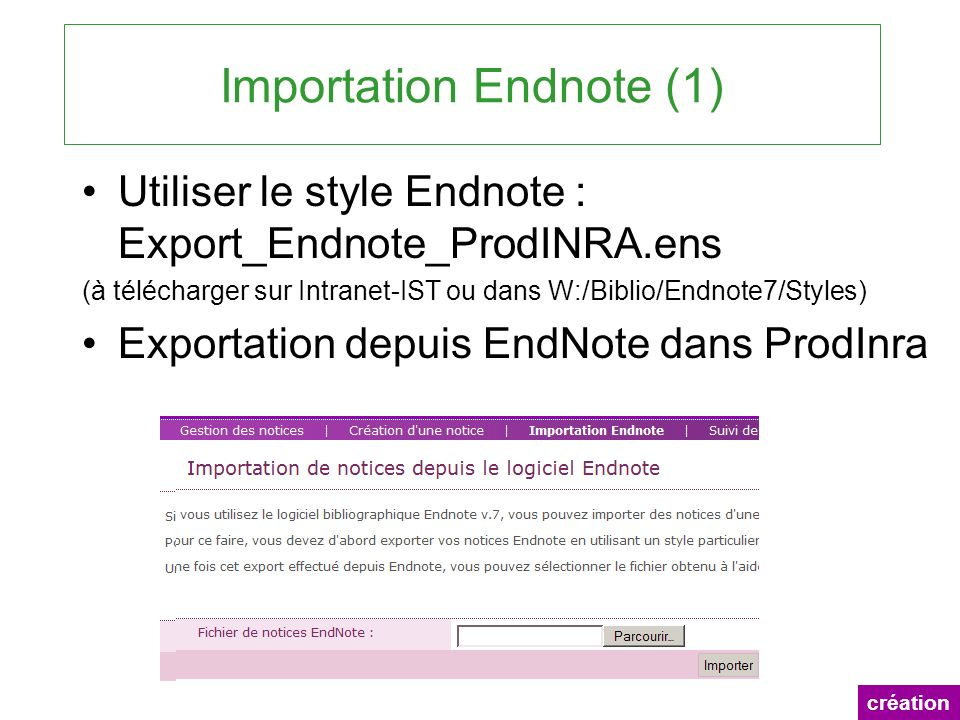 Importation Endnote (1)