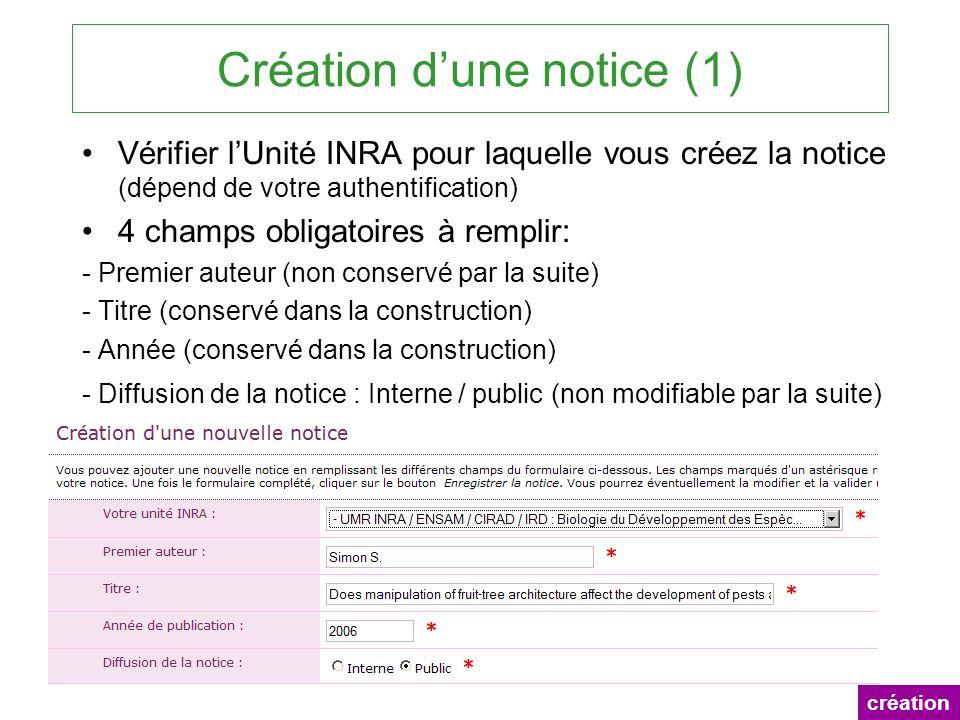 Création d'une notice (1)