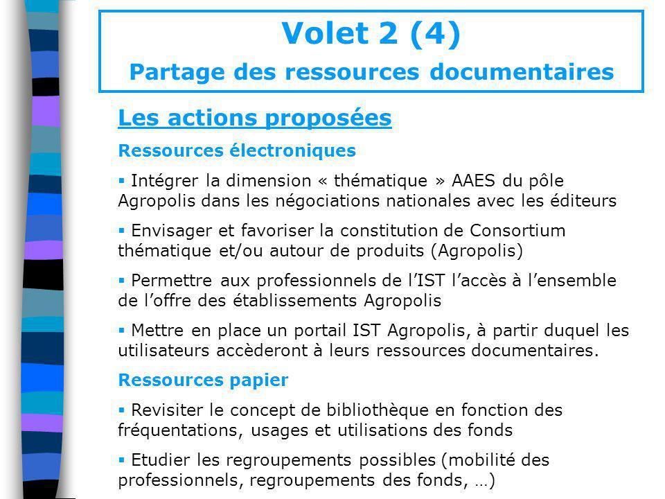 Volet 2 (4) Partage des ressources documentaires