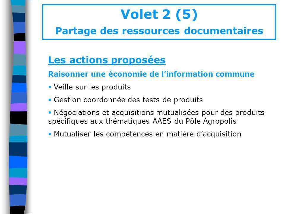 Volet 2 (5) Partage des ressources documentaires