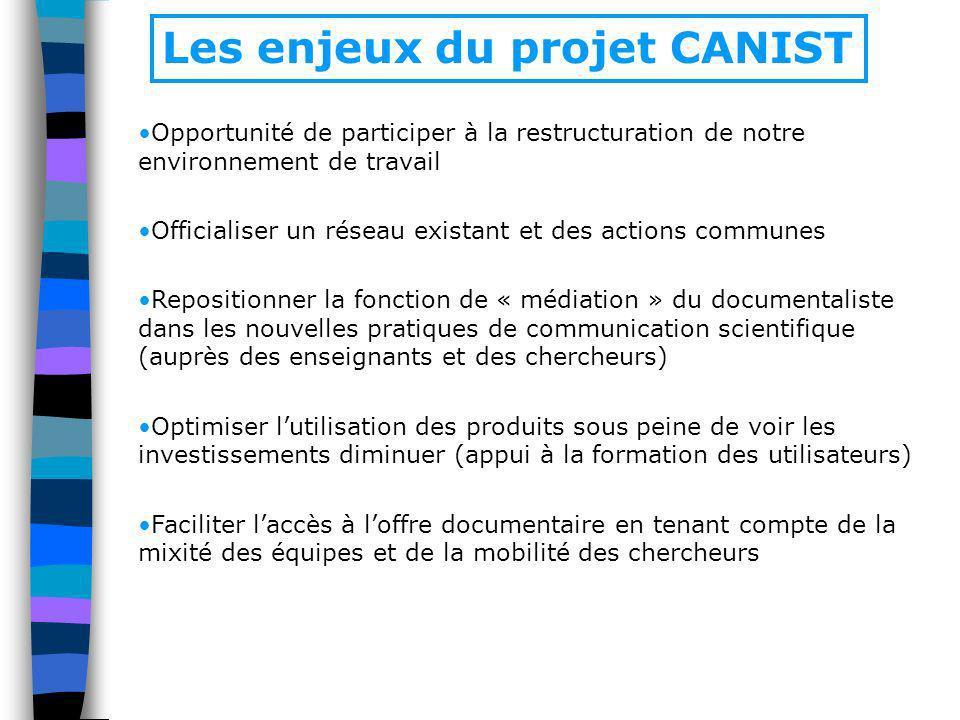 Les enjeux du projet CANIST