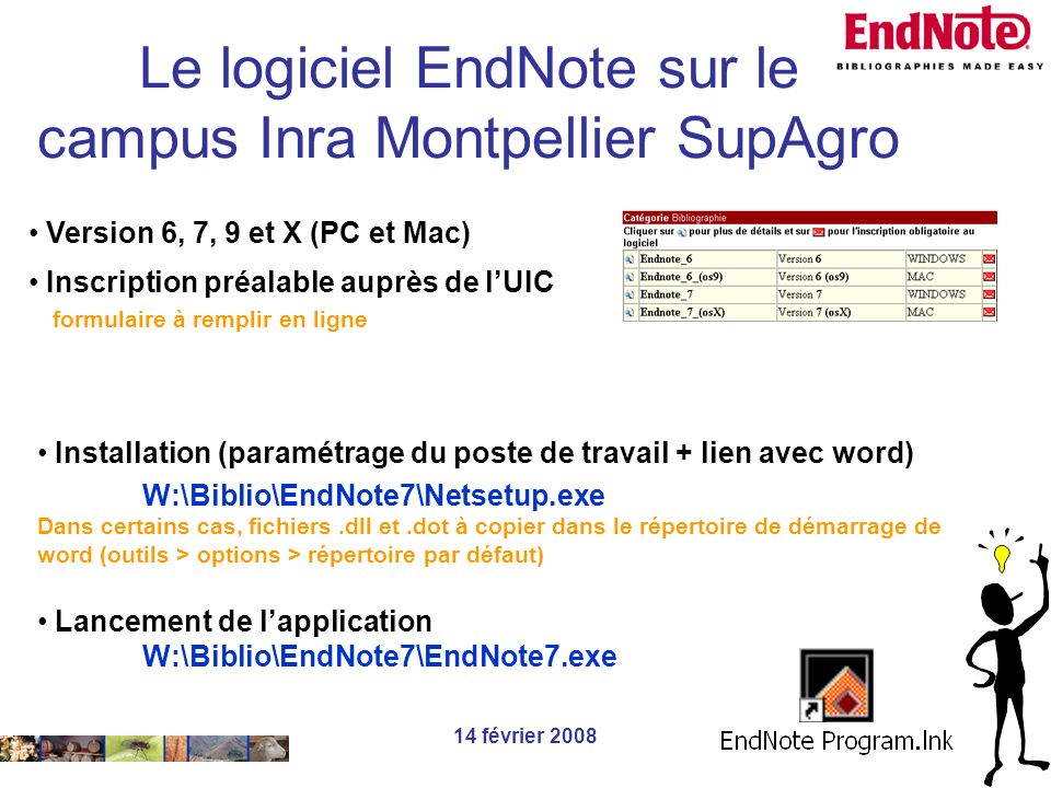 Le logiciel EndNote sur le campus Inra Montpellier SupAgro
