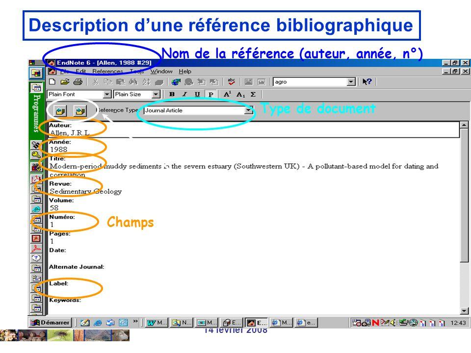 Description d'une référence bibliographique