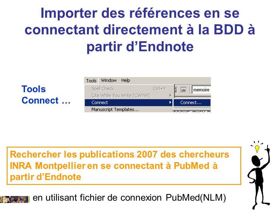 Importer des références en se connectant directement à la BDD à partir d'Endnote