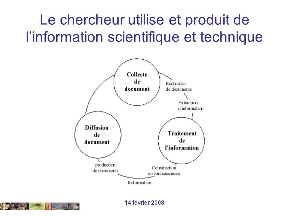 Le chercheur utilise et produit de l'information scientifique et technique