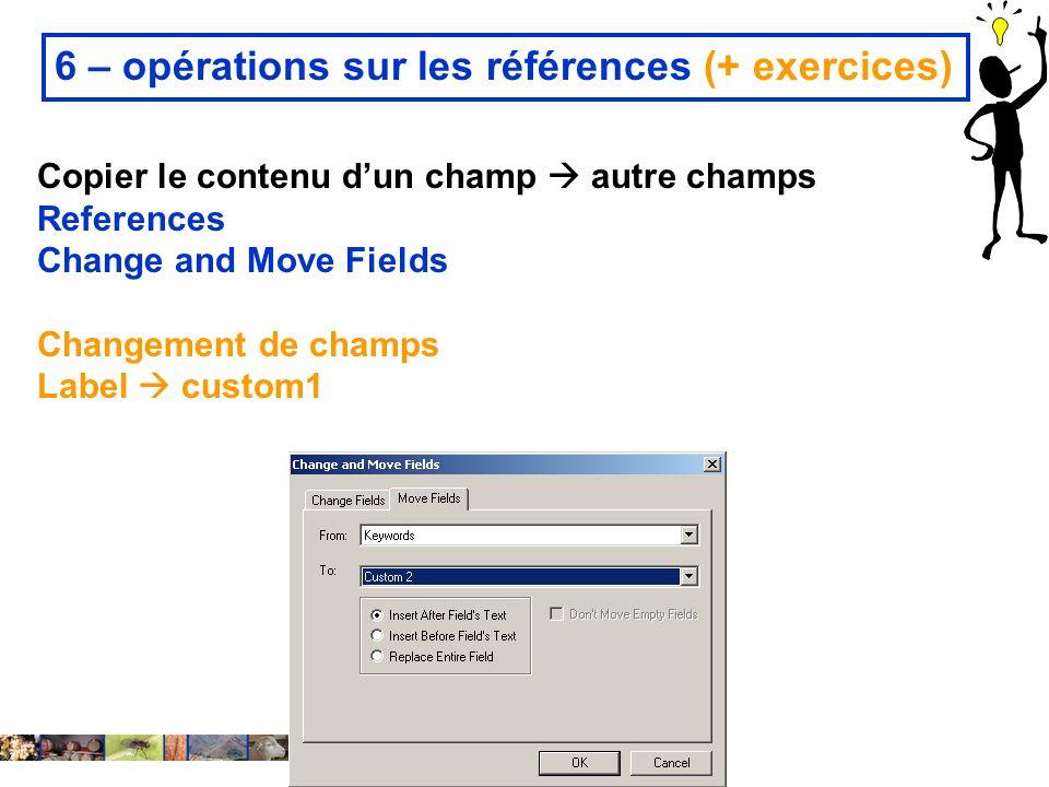 6 – opérations sur les références (+ exercices)