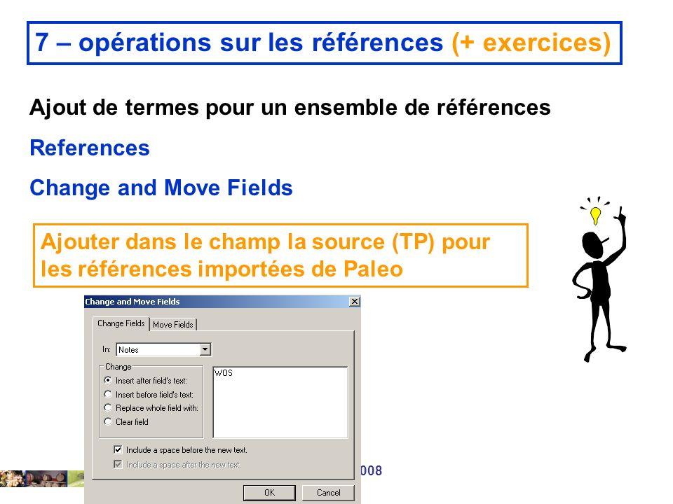 7 – opérations sur les références (+ exercices)