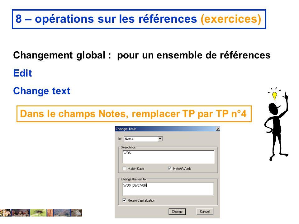 8 – opérations sur les références (exercices)