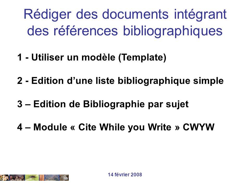 Rédiger des documents intégrant des références bibliographiques
