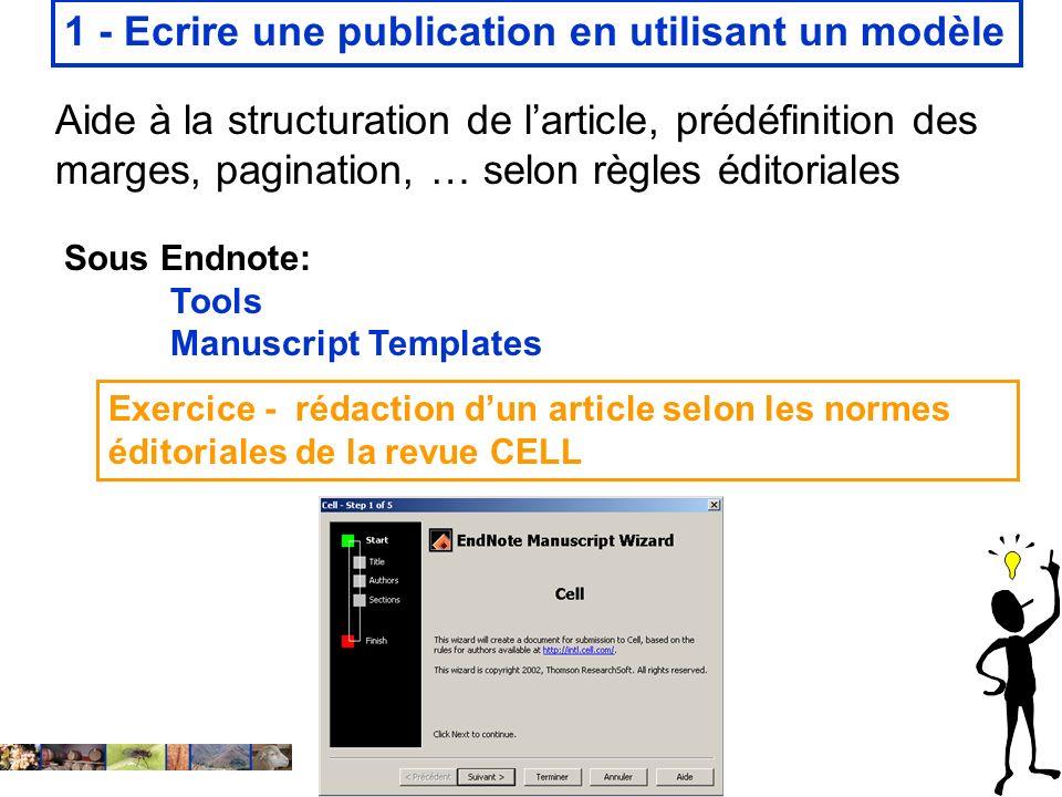 1 - Ecrire une publication en utilisant un modèle