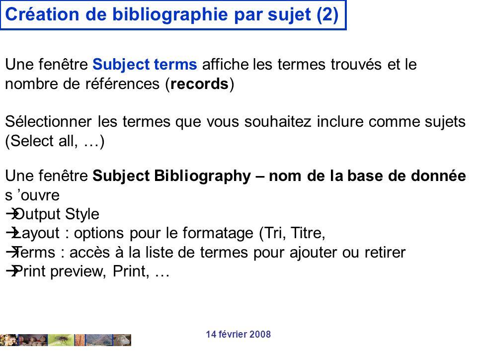 Création de bibliographie par sujet (2)