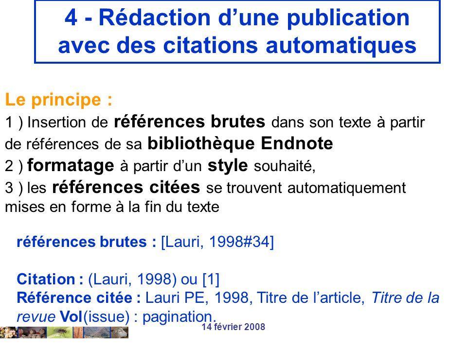 4 - Rédaction d'une publication avec des citations automatiques