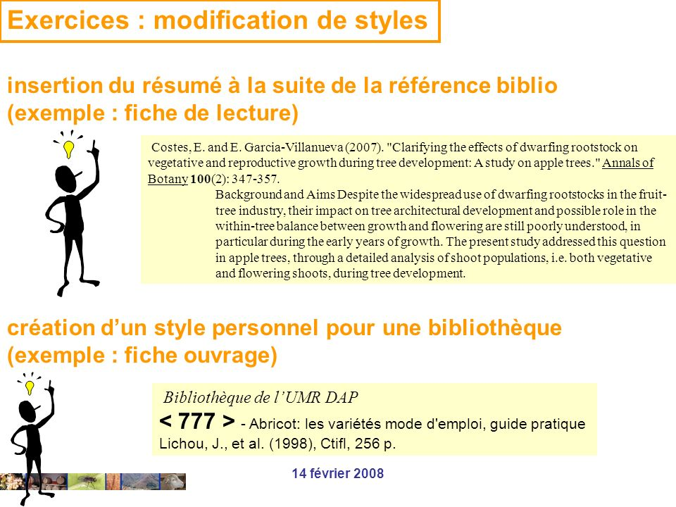 Exercices : modification de styles