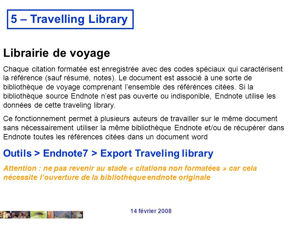 5 – Travelling Library Librairie de voyage