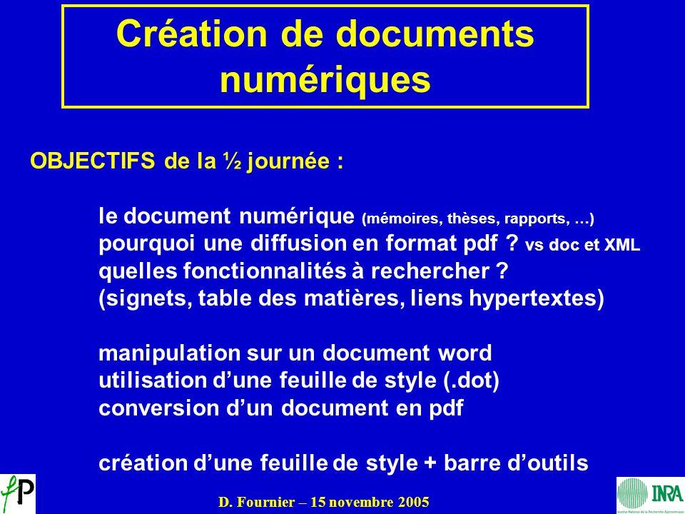 Création de documents numériques